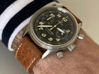 Omega Dynamic Military Chronograph 90's Vintage Automatic Stainless Ref 175.0310