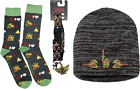 The Legend of Zelda 8 Bit Link Knit Beanie Hat Sock and Lanyard Gift Bundle Grey