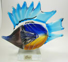 Rare GCA Art Glass Fish Heavy Modern Sculpture 65 L 6 T Original Sticker