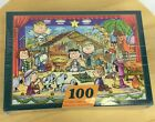 Springbok Hallmark Peanuts Merry Christmas Everyone Nativity Puzzle 100 Pc New