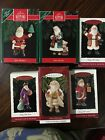 Lot of 6 Hallmark Ornaments Merry Olde Santa #1, 3, 4, 5, 6 And 8. 1990-1997