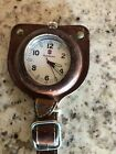 victorinox watch men used. Pocket watch in leather case. Needs new battery.