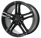 18 CHEVROLET CORVETTE STINGRAY SATIN BLACK FRONT WHEEL RIM FACTORY OEM 5729