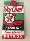 TEXACO SKY CHIEF  SUPERCHARGED WITH PETROX PORCELAIN SIGN - Large 22