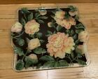 Peggy Karr Large Serving Tray With Handles Yellow Peony 17