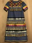 Native American Girls Jingle Dress with Under skirt Gold Jingles Size 10 New