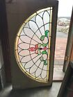Sg 3175 Antique Arch Stained glass transom window 2425 x 4825