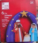 New 65 LED Airblown Nativity Scene Jesus Mary Joseph Christmas inflatable