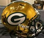 Aaron Rodgers Autographed Green Bay Packers Full Size Chrome Replica Steiner COA