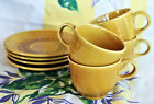 69 - 73 Vintage Fiesta Ironstone..Antique Gold..Set of 4 Coffee Cup