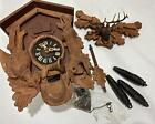 Vtg West Germany Carved Black Forest ? Wooden Bird Classic Cuckoo Clock