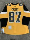 SIDNEY CROSBY Pittsburgh Penguins SIGNED Adidas Pro JERSEY w PSA COA 46 NEW