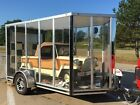 2018 CLEAR sided 6 x 10 V Nose Motorcycle Trailer Trikes Quads RARE LOOK