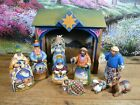 Jim Shore 10 Piece Nativity Manger Set Heartwood Creek 2004
