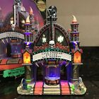 Lemax Spooky Town MORTIS THEATER Lights Animation Sound RARE Halloween Village