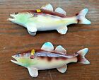 WALLEYED PIKE Fish Salt And Pepper Shakers