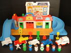 VTG FISHER PRICE LITTLE PEOPLE MAIN STREET PLAYSET 2500 LOADED + EXTRAS