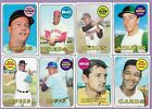1969 Topps Partial Complete Set Lot 394 664 VG to EXMT