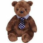 Ty Beanie Baby Collection HERO Teddy  Bear Retired NeckTie Dad Fathers Day