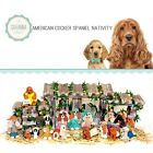 SAVANNASHOPS Dog Nativity Cocker Spaniel Gifts Nativity Sets Dog Lover Gifts