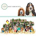 SAVANNA SHOPS Dog Nativity Basset Hound Gifts Nativity Sets Dog Lover Gifts