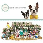 SAVANNASHOPS Dog Nativity Boston Terrier Gifts Nativity Sets Dog Lover Gifts