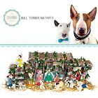 SAVANNASHOPS Dog Nativity Bull Terrier Gifts Nativity Sets Dog Lover Gifts