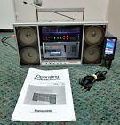 Vintage Panasonic Ambience RX-F35 Boombox Ghetto blaster (WORKING CLEAN