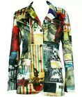 RARE Moschino Jeans Vintage Italian Tribute Print Blazer Size IT44 US10 UK14