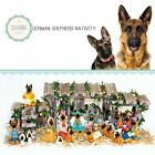 SAVANNASHOPS Dog Nativity German Shepherd Gifts Nativity Sets Dog Lover Gift