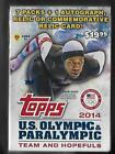 2014 topps U.S. Olympic & Paralympic 7 pack box + 1 autograph or relic card