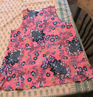 Ann Taylor Loft Medium Bright Pink Paisley Popover Sleeveless Blouse Top New NT