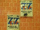 NOS Vintage Old School BMX Bicycle Trick Tops ZZ Tip Dice Brake  Gear Clips