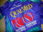 Saturn Safeway Golds Gym Purple Green Cycling Jersey Old School 1970s 1980 M L