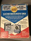 Intermatic WH21 Indoor Electric Water Heater Timer 250 volt NEW