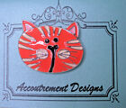 Needle Minder Magnet Cat Face Accoutrement Designs Needlepoint