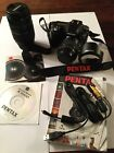 Pentax SLR Digital Camera K100D With Two Lenses And Accessories.