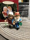 THE CLAUSES ON VACATION - SANTA & MRS. CLAUS FISHING - #1 HALLMARK ORNAMENT 1997