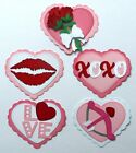 Premade Die Cut Paper Pieced Embellishments for Scrapbook Page Love Valentine