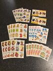 Vintage Cute Animal Sticker And Seal Huge Lot 37 Sheets