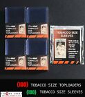 Mini Toploaders 100pc + Sleeves100pc Set TOBACCO SIZE Ultra Pro