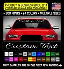 Custom Windshield Decal Sticker Vinyl Car Banner 5 Script Jdm Kdm Bottom Rocker