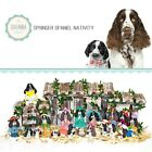 SAVANNASHOPS Dog Nativity Springer Spaniel Gifts Nativity Sets Dog Lovers