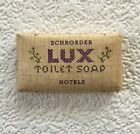 Vintage SCHROEDER HOTELS Lux Toilet Soap Bar Mini Travel Motel Size