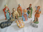 Vintage Homco 9 Piece Nativity Set Christmas Matte 5216 Boxes