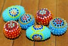 6 pc set Handcrafted Fine Indonesian Lampwork Glass Beads 20mm 24mm LW177