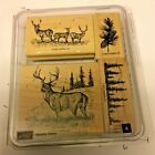 Stampin Up NOBLE DEER Rubber Stamps Scrapbooking RETIRED Wood Set of 4