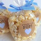 100 Popcorn Favor Bags for Baby Showers Ready to Pop Clear Wedding Bridal Shower