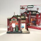 Lemax Al's Gas Station With Box Christmas Village Service Station Auto Shop