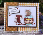 Stampendous cling mounted rubber stamp House Mouse CHOCOLATE DIP